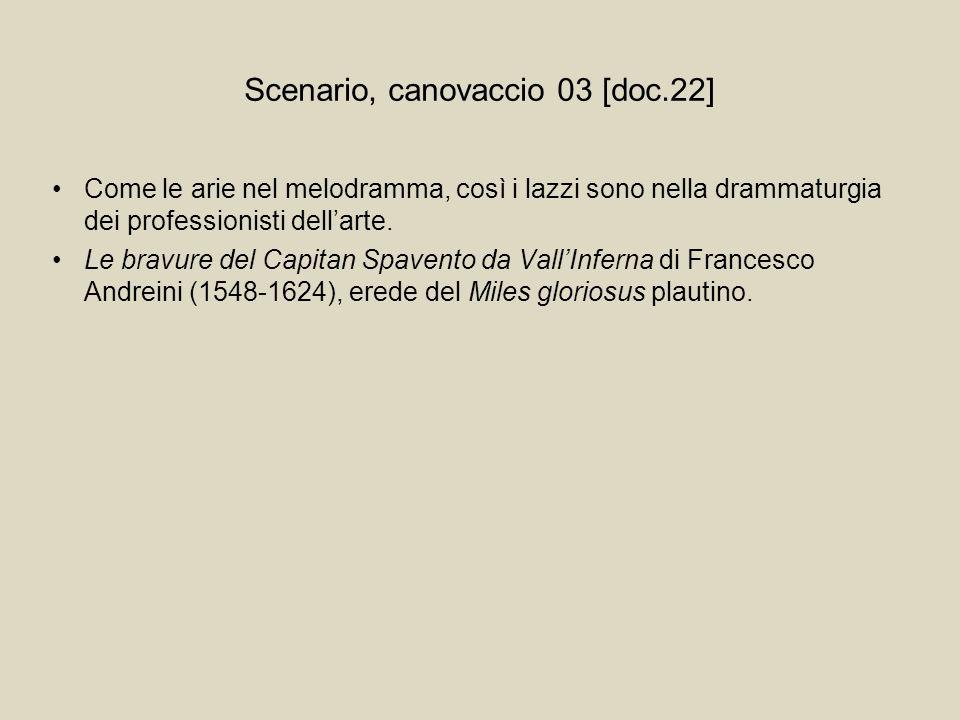 Scenario, canovaccio 03 [doc.22]